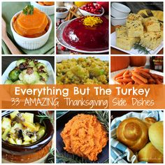 THIRTY THREE Amazing Thanksgiving Side Dishes  at A LittleClaireification.com #Thanksgiving #recipes #HolidayFood