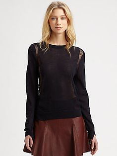 A.L.C. Leather mini skirt and sweater