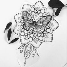 45 Wonderful Butterfly Tattoo Ideas For Tattoo Lovers – Page 76 of 99 – CoCohots – Tattoo Sketches & Tattoo Drawings Butterfly Mandala Tattoo, Butterfly With Flowers Tattoo, Butterfly Tattoo Designs, Mandala Tattoo Design, Sun Flowers, Butterfly Sleeve Tattoo, Simple Mandala Tattoo, Mandala Tattoo Meaning, Monarch Butterfly