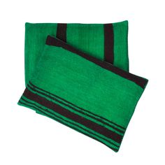 Kelim Cushion Green With Black
