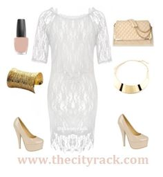 Look elegant and chic this winter in this stunning lace dress. Whether you're attending a winter wedding or a Christmas party, this off the shoulder number is a winner. Wear with some nude heels to elongate your legs and pair with a matching quilted bag and you're guaranteed to look and feel gorgeous!
