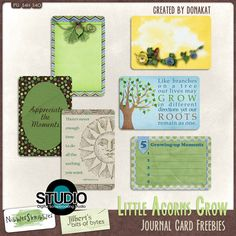 FREE Little Acorns Grow Journal Cards created by Donakat