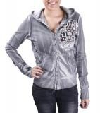 AFFLICTION Distressed Zip Raw Edge Women's Hoodie Hooded Sweatshirt $69.99    #affliction #women #UFC