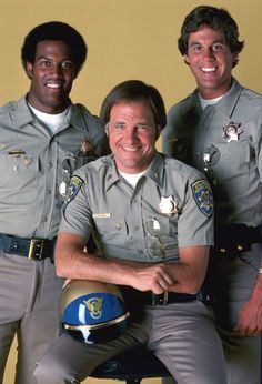 Gene, Getraer, and Bear 70s Tv Shows, Old Shows, Movies And Tv Shows, Childhood Tv Shows, Childhood Friends, Classic Tv, Classic Movies, Larry Wilcox, Favorite Tv Shows