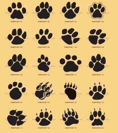 Paws Tattoo Designs for Women | kids and everybody. Paw print clip ...