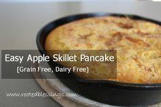 Easy Apple Skillet Pancakes (grain free, dairy free)