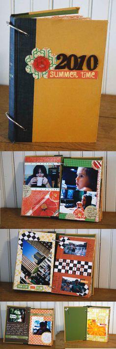 mini book upcycle idea #eco #scrapbook Originally pinned by Marya Grant onto scrapbooking.