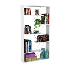 Tars Bookcase x x (White with Pink Chrome - 33 x x 62 -