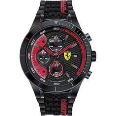 Scuderia Ferrari Orologi - 0830260 - Montre Homme - Quartz - Analogique - Bracelet Silicone noir