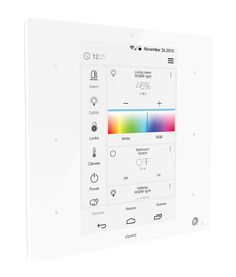 Zipato ZipaTile Z-Wave Plus Home Automation Controller ZT.ZWUS, white, side view