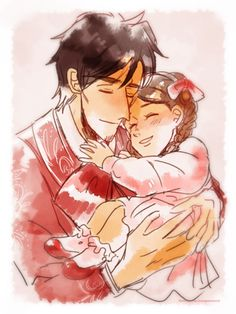Hector and his daughter, Coco from Coco