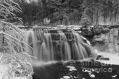 """""""Ludlowville Falls In Winter"""" by Michele Steffey, Finger Lakes Fine Art Prints, Twitter @ArtFingerLakes, https://www.facebook.com/fingerlakesfineartprints"""