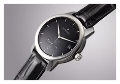 The Zeitwinkel black Omega Watch, Watches, Leather, Accessories, Black, Black People, Clocks, Clock, Ornament