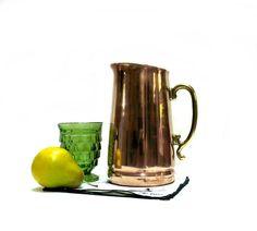 Copper & Brass Pitcher 1960s ODI Korea Vintage by CoconutRoad, $30.00