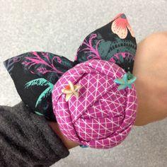 Nov 6 - Rose Cuff Pin Cushion www.sergesew.com Nov 6, November 2015, Pin Cushions, Sewing, Rose, Dressmaking, Pink, Couture, Stitching