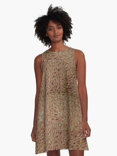 'Peeling Bark Of A Eucalyptus Gum Tree' A-Line Dress by taiche Popee The Performer, Schneider, Summer Wear, Chiffon Tops, Designer Dresses, Pink, Purple, Clothes For Women, Women's Clothes