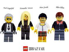 Fashion LEGO: Lagerfeld, Versace, Jacobs, Elbaz