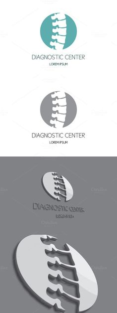Spine diagnostic center logo. Human Icons. $20.00