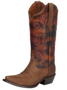 122753 Bota Vaquera Dama Rio Grande, Piel Crazy Horse - Miel
