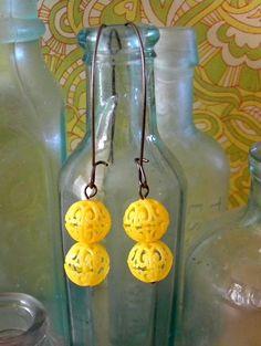 pretty yellow earrings.