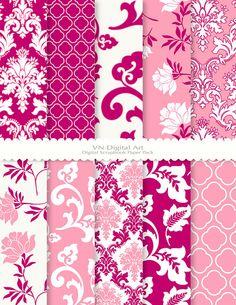 Digital Paper Damask Floral Digital Paper Pack by VNdigitalart  https://www.etsy.com/listing/78733412/digital-paper-damask-floral-digital?ref=shop_home_active_14