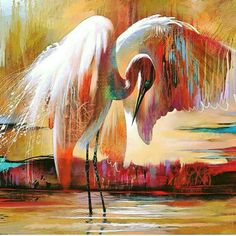 Abstract Animal Art, Tropical Bird Art, Artist Tim Parker — Gallery Naples FL - Contemporary Fine Art Prints & Modern Abstract Artwork by Southwest FL Artist Timothy Parker Contemporary Abstract Art, Modern Art, Art Koi, Wal Art, Tropical Art, Modern Tropical, Foto Art, Art Moderne, Painting Edges
