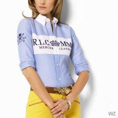 FEMMES Ralph Lauren Shirt · Chemisier, Doudoune Pas Cher, Femme, Polo  T-shirts, Chemisiers, Polo e8e4c660f90f