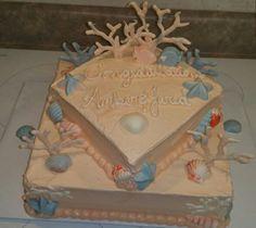 Wedding shower cake top view