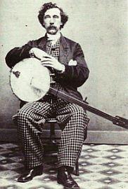 Gr8 minstrel banjo...but phenomenal pants!!!