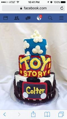 Toy Story cake by Inphinity Designs. Please visit my FB page Inphinity Designs at https://m.facebook.com/profile.php?id=71791500352&refsrc=https%3A%2F%2Fwww.facebook.com%2Fpages%2FInphinity-Designs%2F71791500352