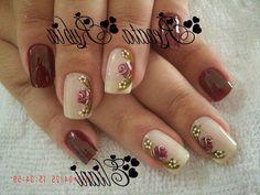 Fancy Nails, Cute Nails, Pretty Nails, Shellac Nails, Acrylic Nails, Girls Nails, Toe Nail Designs, Beautiful Nail Art, Flower Nails