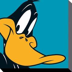 Looney Tunes - Daffy Duck - Canvas Print 40 x 40 cm