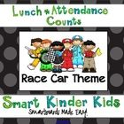 Race Car Theme - Looking for a fun way to do Lunch Count and Attendance? This is a great way to accomplish some of your morning routines while allowing your student...