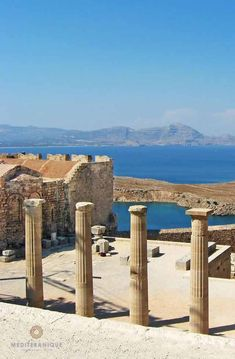 The Ancient Ruin and Acropolis in Lindos Rhodes Greece