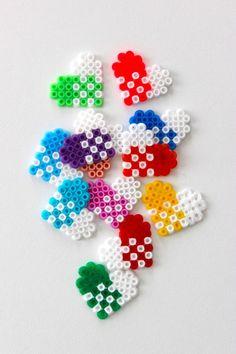 DIY Christmas heart gift tags hama mini beads