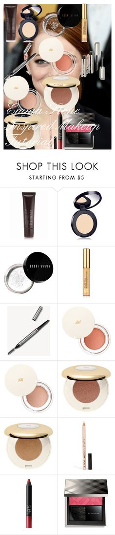 """""""Emma Stone Inspired Makeup Tutorial"""" by oroartye-1 on Polyvore featuring beauty, Laura Mercier, Estée Lauder, Bobbi Brown Cosmetics, Burberry, H&M, NYX and NARS Cosmetics"""