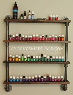DIY Essential Oil Shelf ~ I NEED this!!!!!                                                                                                                                                      More