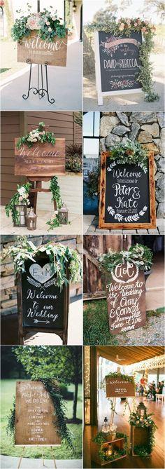 20 Greenery Rustic Wooden Welcome Wedding Signs - Dekor Ideen Trendy Wedding, Perfect Wedding, Diy Wedding, Rustic Wedding, Wedding Ideas, Wedding Cakes, Deco Floral, Wedding Welcome Signs, Wedding Dinner