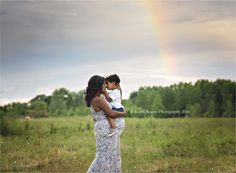 Maternity, baby belly, pregnancy, pregnant, outdoors, park, woods, trees, photos, pictures, photography, mother, son, big brother, love, dress, rainbow