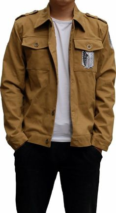 Amazon.com: Aovei Attack on Titan Costume Recon Corps Brown Long Jacket: Clothing