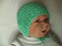 Babymütze gestrickt Baumwolle 31-34cm Mütze