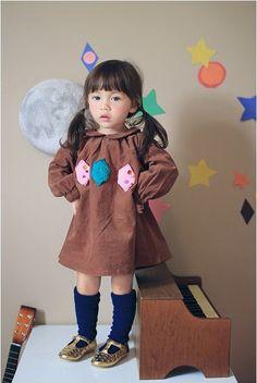 マリボンワンピース(ブラウン) : かわいい!絵本みたいな子供服!ANNIKA アニカ 2012秋冬COLLECTION 韓国 - NAVER まとめ
