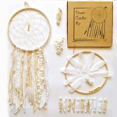 Sale Clarence DIY Dream Catcher Kit inche (Woven Mandala Kit, Woven Mandala B Bohemian Wall Art, Bohemian Decor, Mandala Towel, Dream Catcher Kit, Wooden Hoop, Business Products, Make Your Own, How To Make, Creative Activities