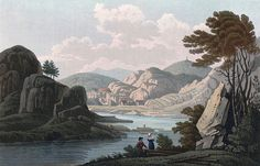 "Van soe, near Mos (JW Edy plate 69). English: ""Van soe, near Mos"" Norsk bokmål: «Vansöe nær ved Moss» Drawing by John William Edy (1760-1820) from his journey along the coast of Norway during the summer of 1800. Published in Boydell's picturesque scenery of Norway in 1820."