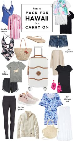 Kristina does the Internets: How I Packed for Hawaii in a Carry On Suitcase Source by kristinadoes Fashion Ideas Hawaii Vacation Outfits, Beach Vacation Packing, Hawaii Honeymoon, Packing Tips For Travel, Hawaii Hawaii, Hawaii Style, Outfits For Hawaii, Travel Packing Outfits, Travel Attire