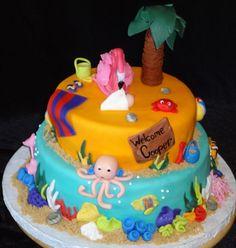 Ocean baby shower cake (by)