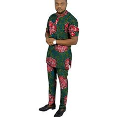 African clothing men's print set short sleeve shirt with trouser Ankara fashion pant sets customize wedding male formal outfits - AliExpress Nigerian Men Fashion, African Men Fashion, Ankara Fashion, Ankara Styles For Men, Latest Ankara Styles, African Dresses Men, African Clothing For Men, Fashion Wear, Fashion Pants
