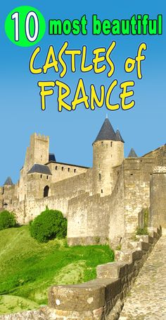 Find out more about my Top 10 Most Beautiful Castles of France! (Here pictured is Carcassonne) . Aquitaine, Corsica, Beautiful Castles, Most Beautiful, Westerns, Loire Valley, French Castles, Tours France, Medieval Castle