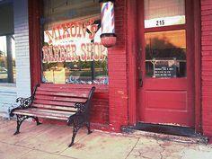 Barber Shop bench
