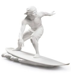 New issue of Lladro porcelain to decorate in summer; surf figurine  http://www.cocowif.com/2015/08/10/new-issue-of-lladro-porcelain-to-decorate-in-summer-surf-figurine/